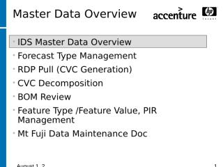 11 Master Data Overview (9-8-05).ppt