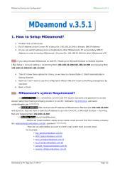 How to Setup MDeamond.doc
