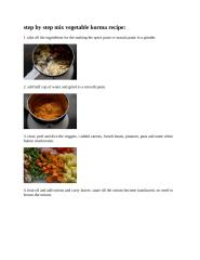 step by step mix vegetable korma recipe.doc