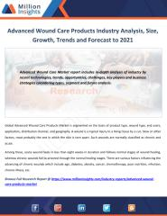 Advanced Wound Care Products Industry Analysis, Size, Growth, Trends and Forecast to 2021.pdf