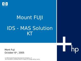 24 KT_Mount Fuji_IDS MAS solution KT.ppt