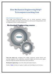 How Mechanical Engineering Help-Tccicomputercoaching.Com.doc